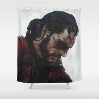 venom Shower Curtains featuring Venom Snake by Ilya Brovkin