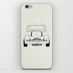 The Italian Job White Mini Cooper iPhone & iPod Skin