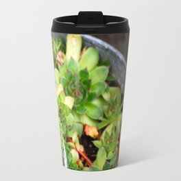 Hens & Chicks Metal Travel Mug