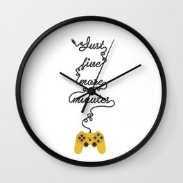 Just Five More Minutes - Video Games Playstation Controller Wall Clock