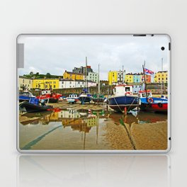 Tenby Harbour Reflection.Wales. Laptop & iPad Skin