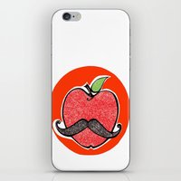apple iPhone & iPod Skins featuring Apple by Ilariabp.art