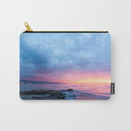 Pastel Beach Sunset Carry-All Pouch