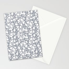 oyster grey beach rose Stationery Cards