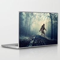 bigfoot Laptop & iPad Skins featuring Misty Railway Bigfoot Crossing by D.A.S.E. 3