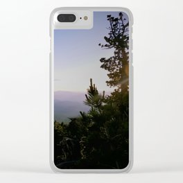 Cascade Mountain View Clear iPhone Case
