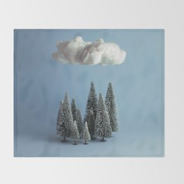 A cloud over the forest Throw Blanket