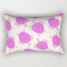 Sea Turtle – Pink Palette Rectangular Pillow