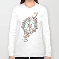 watercolor Long Sleeve T-shirts featuring Bon Voyage by Norman Duenas
