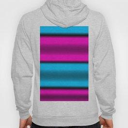 Pink & Blue Horizontal Stripes Hoody