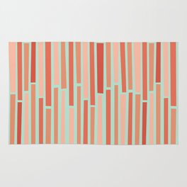 Pink Rows in Mint Rug