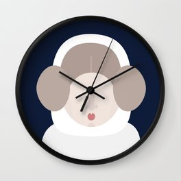 Minimal Princess Leia Wall Clock
