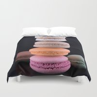 macaroons Duvet Covers featuring Macaroons  by Michael Moriarty Photography