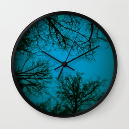 Black trees Wall Clock