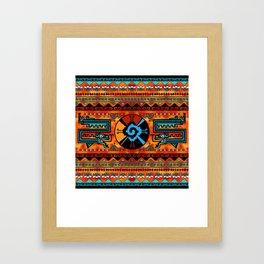 Colorful Hunab Ku Mayan symbol #6 Framed Art Print