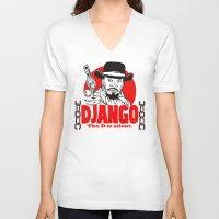django V-neck T-shirts featuring Django logo by Buby87