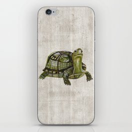Little Turtle, Forest Animals, Woodland Decor, Woodland Art, iPhone Skin