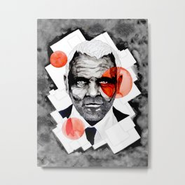Charming Lecter by carographic Metal Print