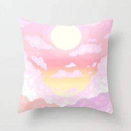 Pink light Throw Pillow