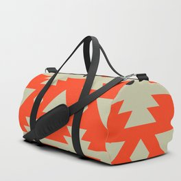 Black and red polka dots with triangles Duffle Bag
