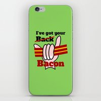 bacon iPhone & iPod Skins featuring Bacon by mailboxdisco