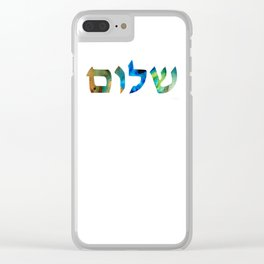 Shalom 15 by Sharon Cummings Clear iPhone Case