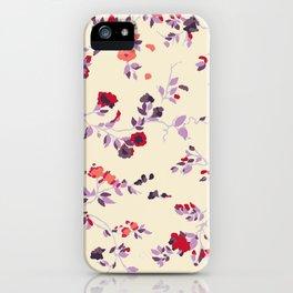 floral vines iPhone Case