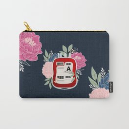 Floral A Positive Carry-All Pouch