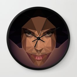Prince Abstract Low Poly Wall Clock