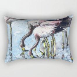 Flamingo party! Rectangular Pillow