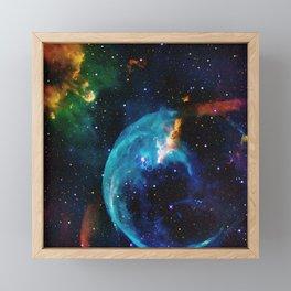 Blue Bubble Framed Mini Art Print