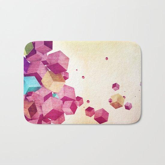 color cubes Bath Mat
