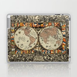 Vintage Map of The World (1920) Laptop & iPad Skin