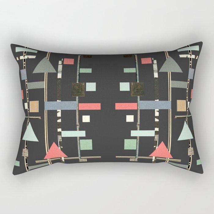 Abstract Aztec No. 1 Rectangular Pillow