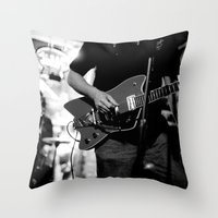 broadway Throw Pillows featuring Lower Broadway by Ethan Luck