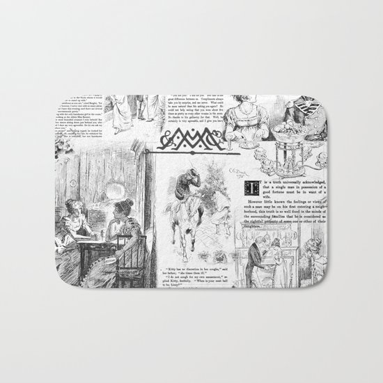 Pride and Prejudice - Pages Bath Mat