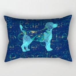 Decorative Beagle  dog Rectangular Pillow