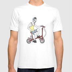 Urbanism MEDIUM White Mens Fitted Tee