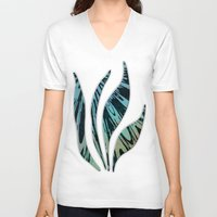 tapestry V-neck T-shirts featuring Native Tapestry by Charma Rose