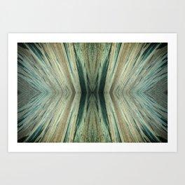 Copper Nitrate Crystals Cu(NO3)2 Art Print