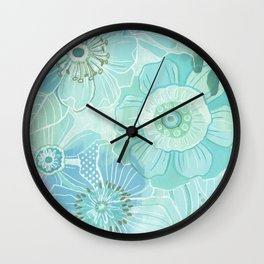 Hooray Blue! Wall Clock
