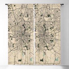 San Antonio City Map of Texas, USA - Vintage Blackout Curtain