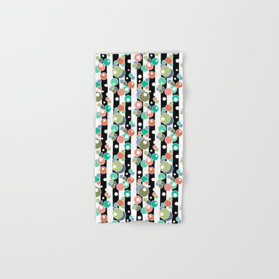 Colorful polka dots pattern Hand & Bath Towel
