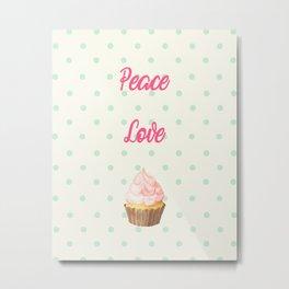 Love Cupcake v.3 Metal Print
