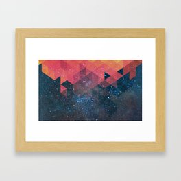 Space triangles 02 Framed Art Print