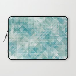 Chic Abstract Pastel Turquoise Blue Retro Triangles Mosaic Pattern Laptop Sleeve