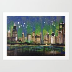 Chicago Night Art Print