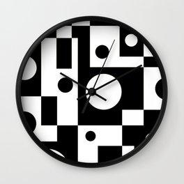 Black & White Abstract II Wall Clock