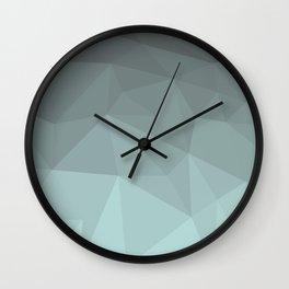 Light Steel Blue Polygon Wall Clock