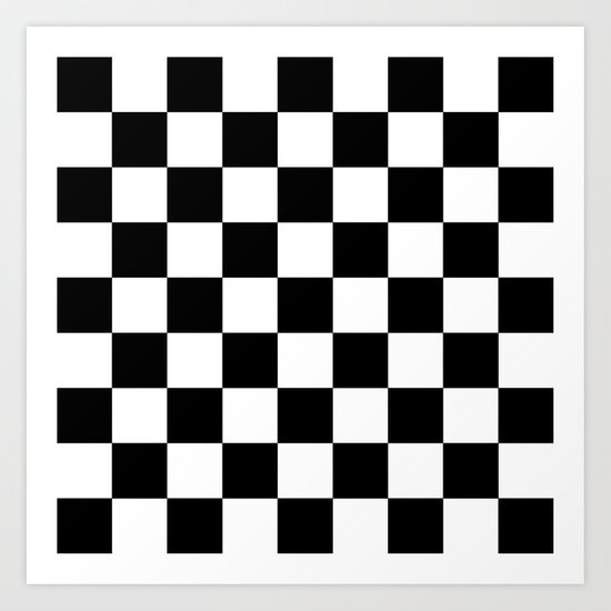 Checker (Black/White) Art Print